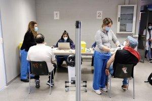 Citizens receiving jabs of the AstraZeneca vaccine