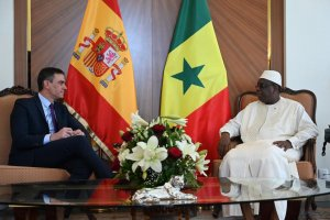 Spanish PM Pedro Sánchez with the President of Senegal, Macky Sall
