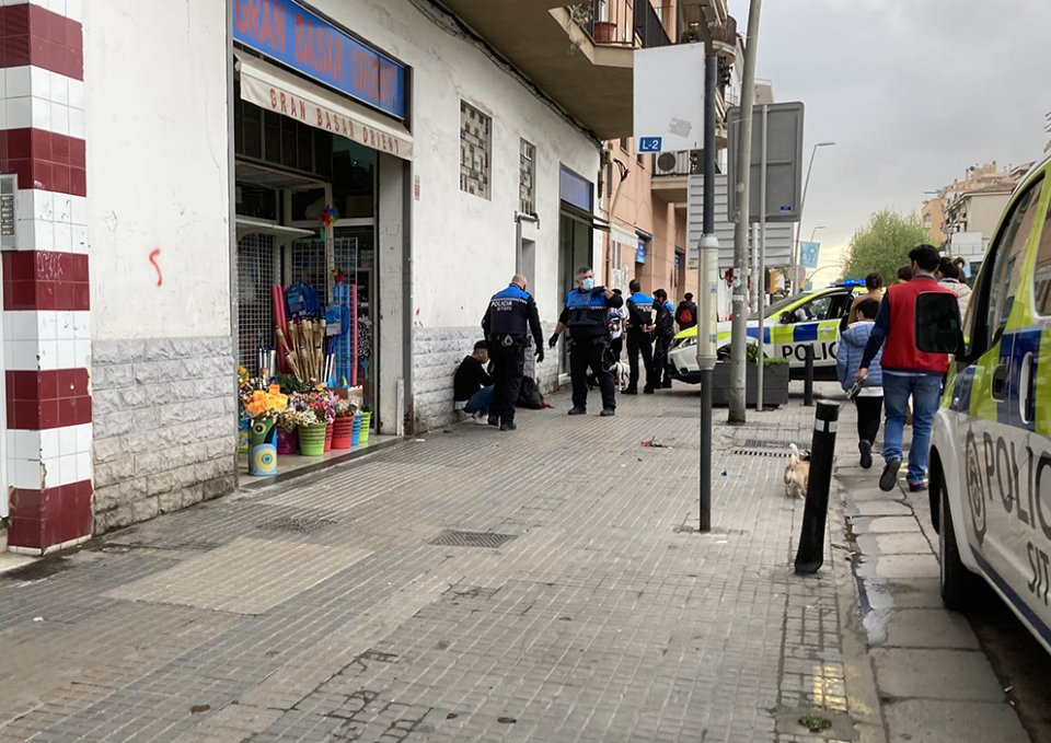 Sitges police officers