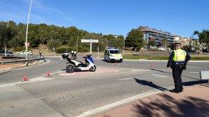 Sitges police control last weekend.