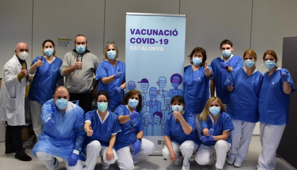 Health workers in Catalonia