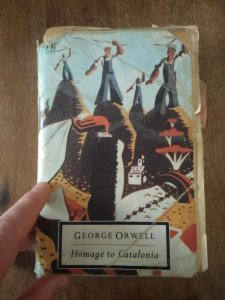 Nick Lloyd's copy of 'Homage to Catalonia', by George Orwell.
