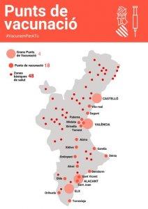 The vaccination centres in the Valencia region. (GVA.es)