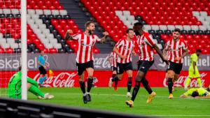 Athletic Bilbao players celebrating