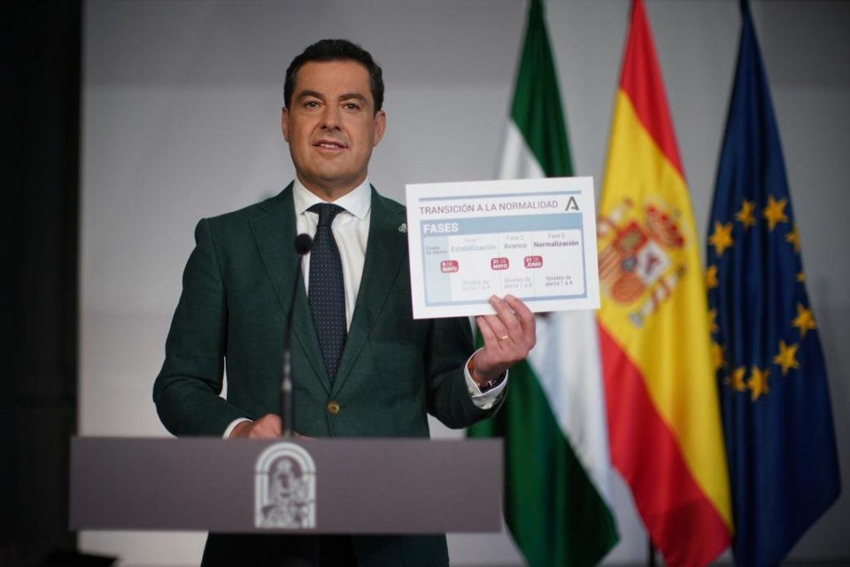 President of the Andalusian government, Juanma Moreno