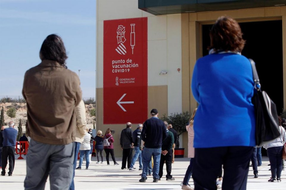 Valencia region mass vaccination centre