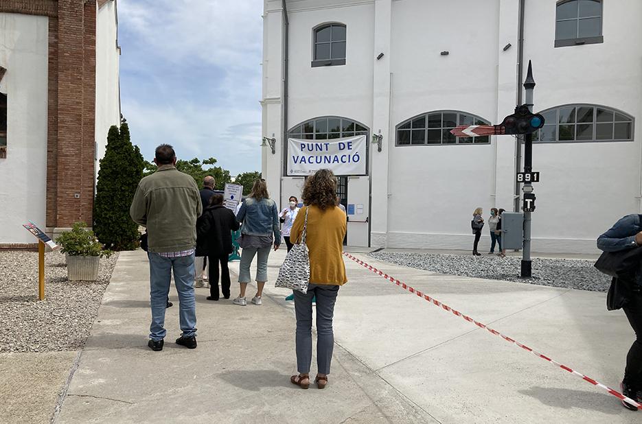 The vaccination centre at the 'Museu del Ferrocarril' in Vilanova