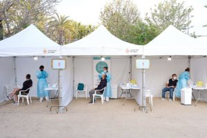 Antigen tests being carried out at Can Milà, Sitges
