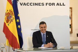 Pedro Sánchez participating by videoconference in the World Health Summit, organised by the G20 and EU