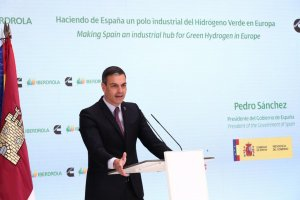 Spanish PM Pedro Sánchez at the presentation for green hydrogen production