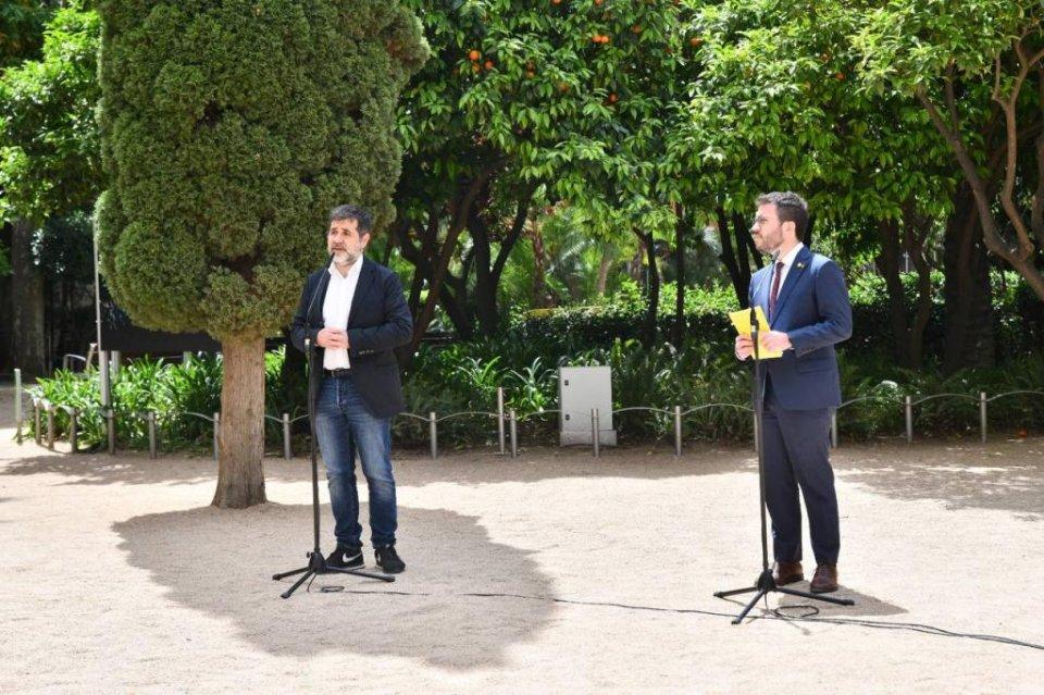 Jordi Sànchez and Pere Aragonès.