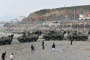 The Army in Ceuta (Screenshot / RTVE)