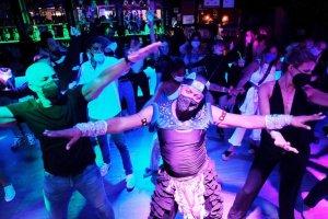 The dance floor inside Las Vegas bar in Sitges