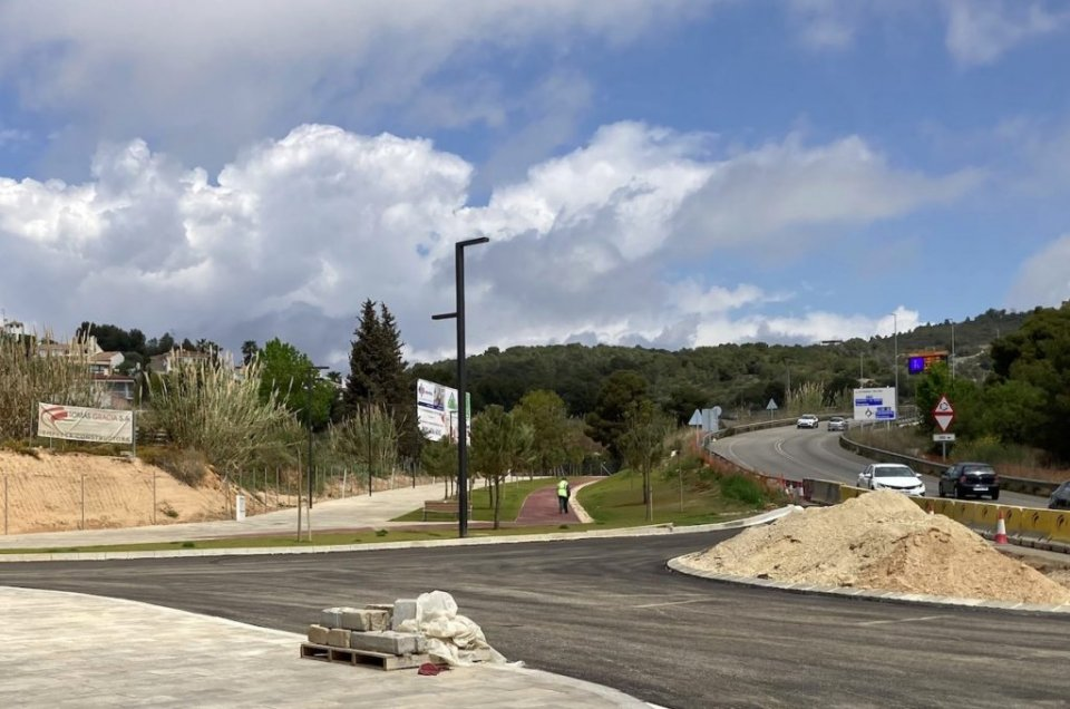 The new roundabout. (L'Eco)