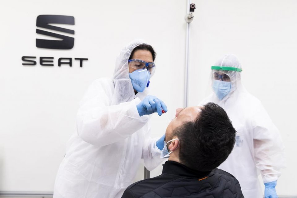 SEAT also conducted mass PCR testing on its employees