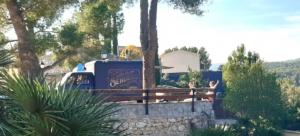 Sendero food truck in Olivella village