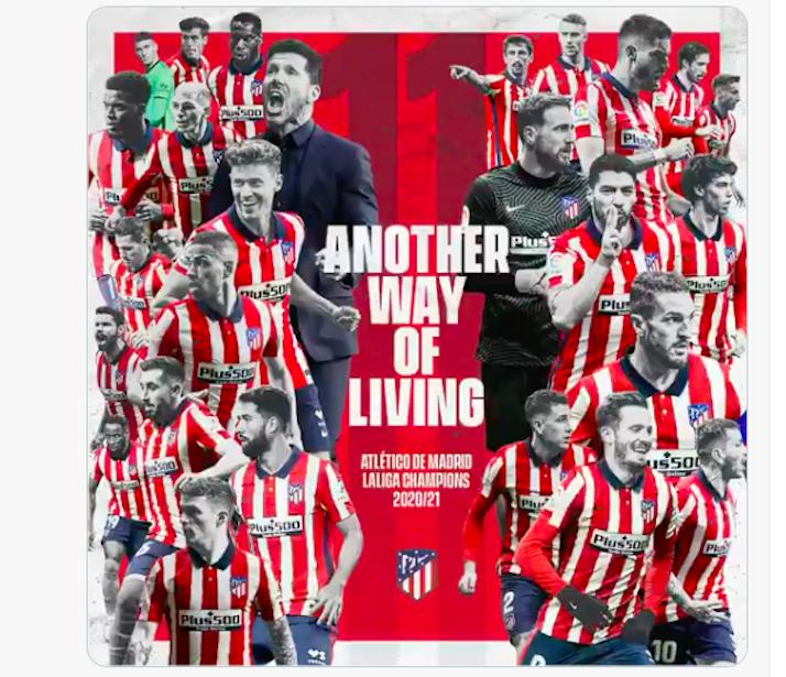 Atlético de Madrid - La Liga champions.