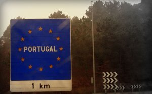 Spain-Portugal border.