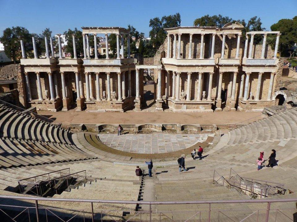 The Roman Theatre of Mérida.