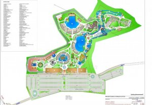 Plan of the waterpark.