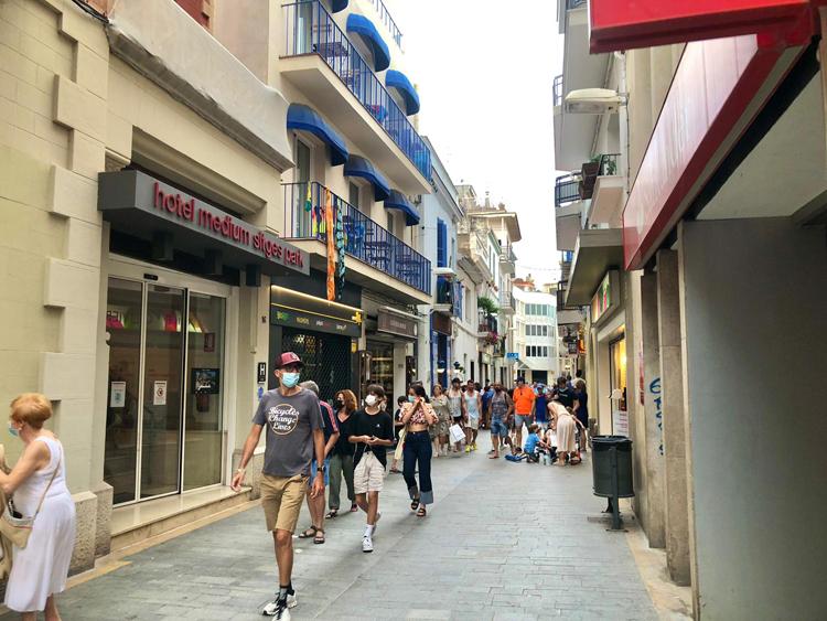 Carrer Jesús in Sitges
