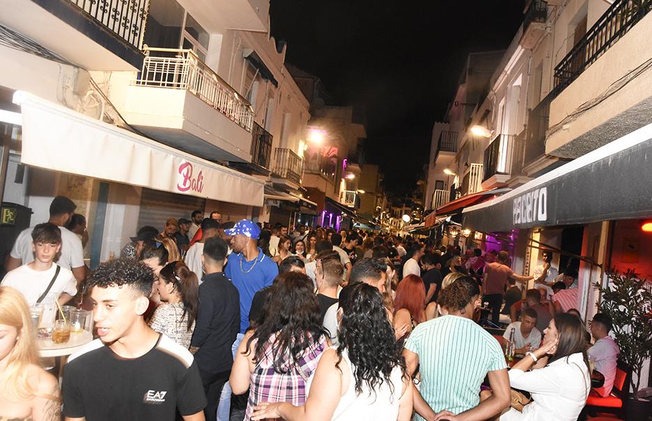 The Carrer Primer de Maig, Sitges,