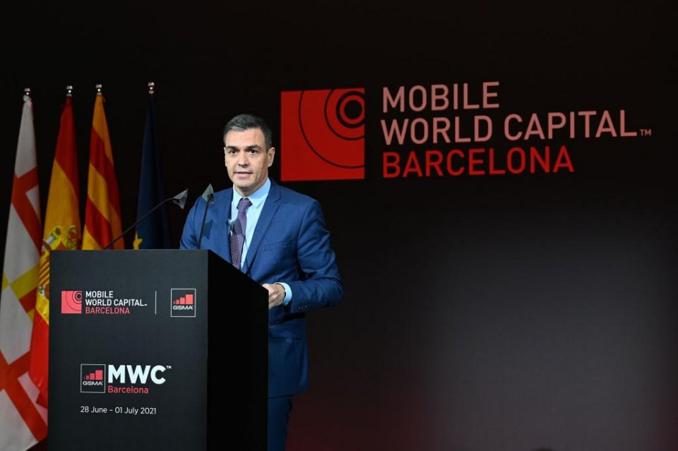 Spanish PM Pedro Sánchez at the inauguration dinner for the Mobile World Congress