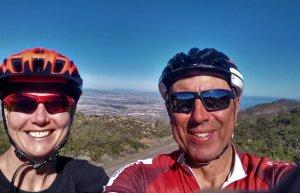 Cathy and Parviz on top of Sierra Cabrera, Almería.