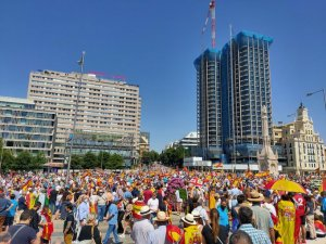 An image of the rally in Madrid on 13 June 2021, tweeted by the organisers, Union 78.
