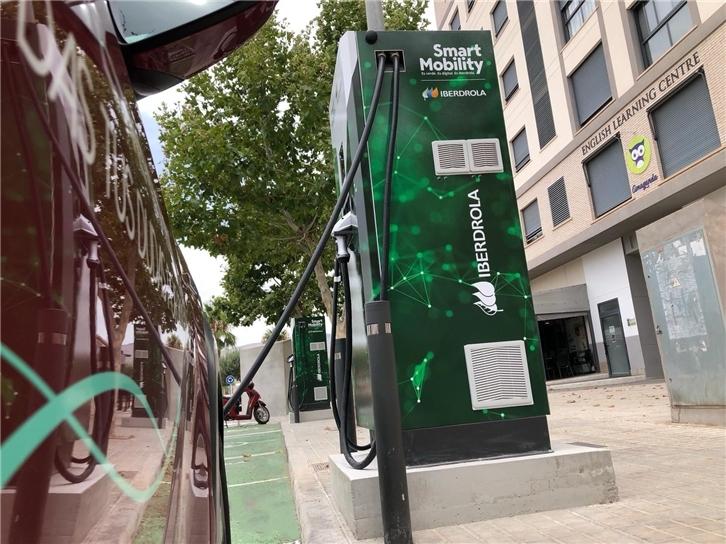 Ibedrola electric vehicle recharge point.