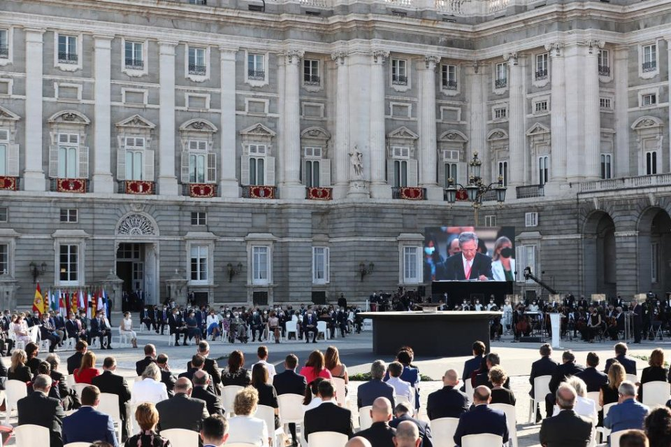 Image of the ceremony held at the Royal Palace in Madrid
