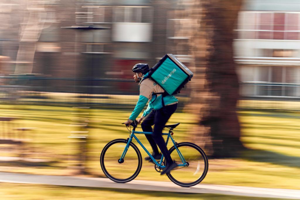 Deliveroo rider.