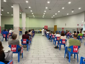 Vaccinations being administered to citizens in Torreblanca, Castellón