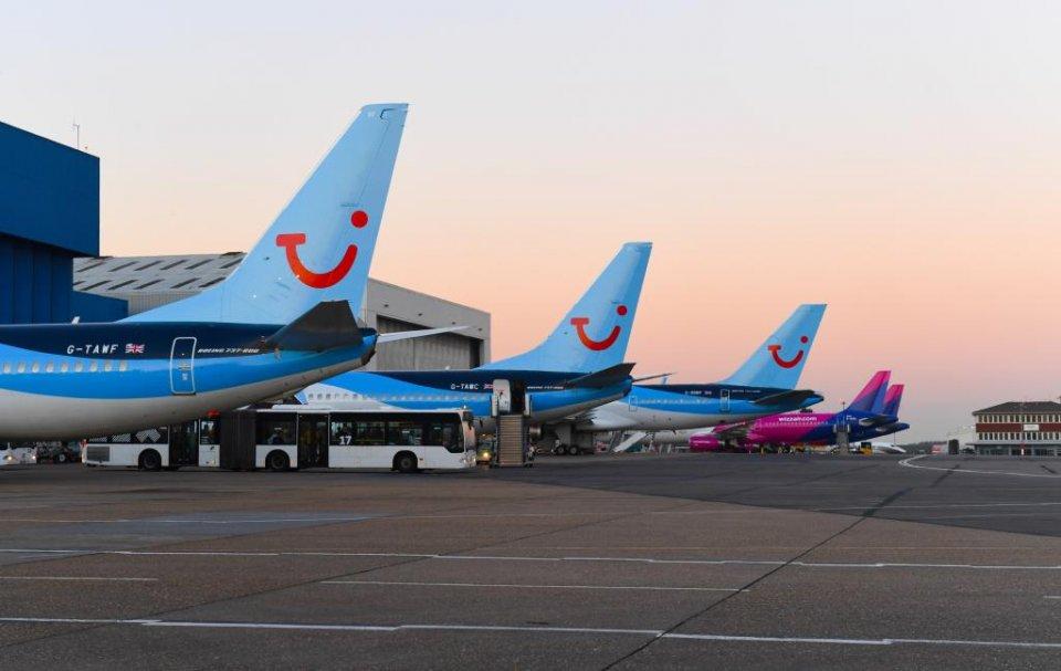 TIU aircraft at London Luton Airport.