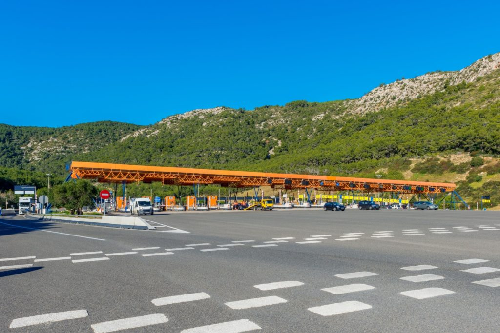 The toll gate at Vallcarca.