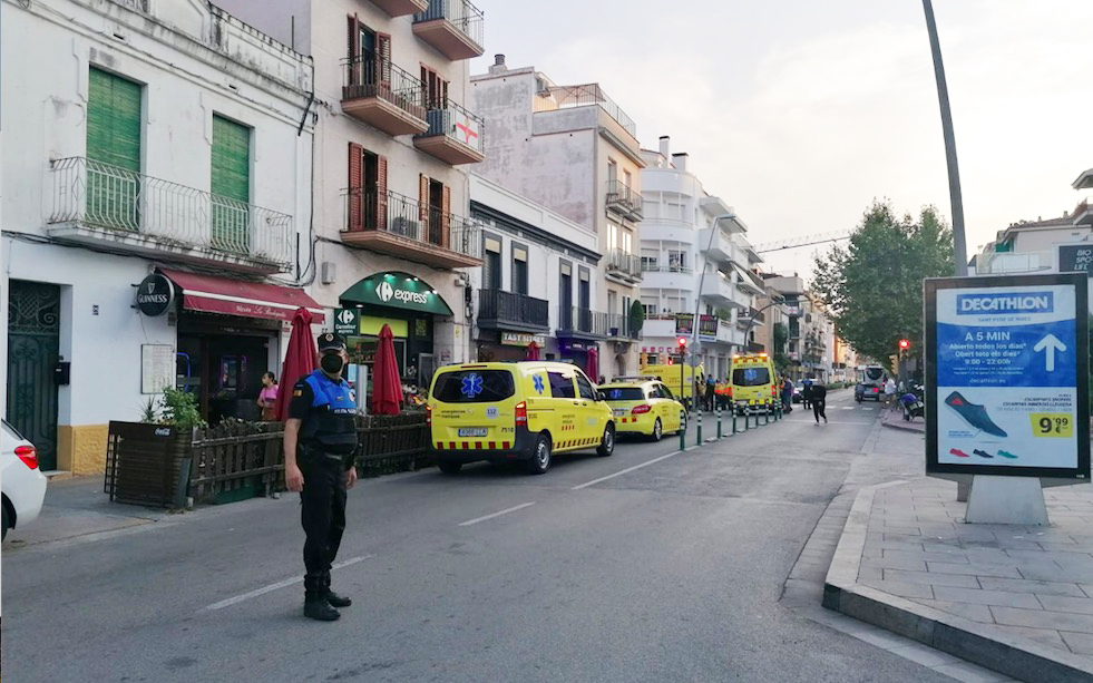 Four SEM vehicles arrived at the scene. (L'Eco)