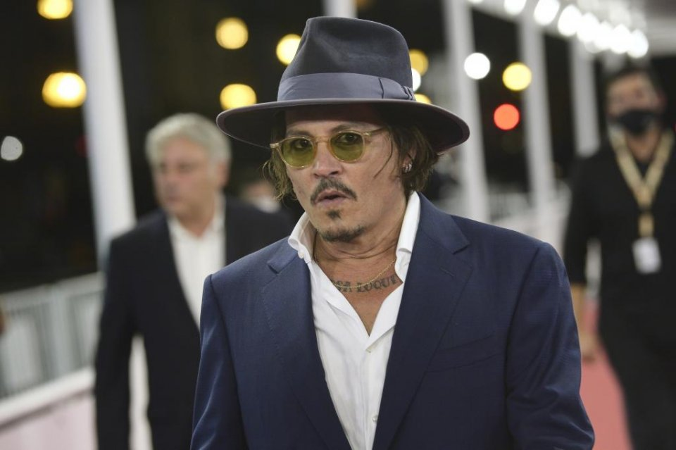 Johnny Depp at the San Sebastian Film Festival