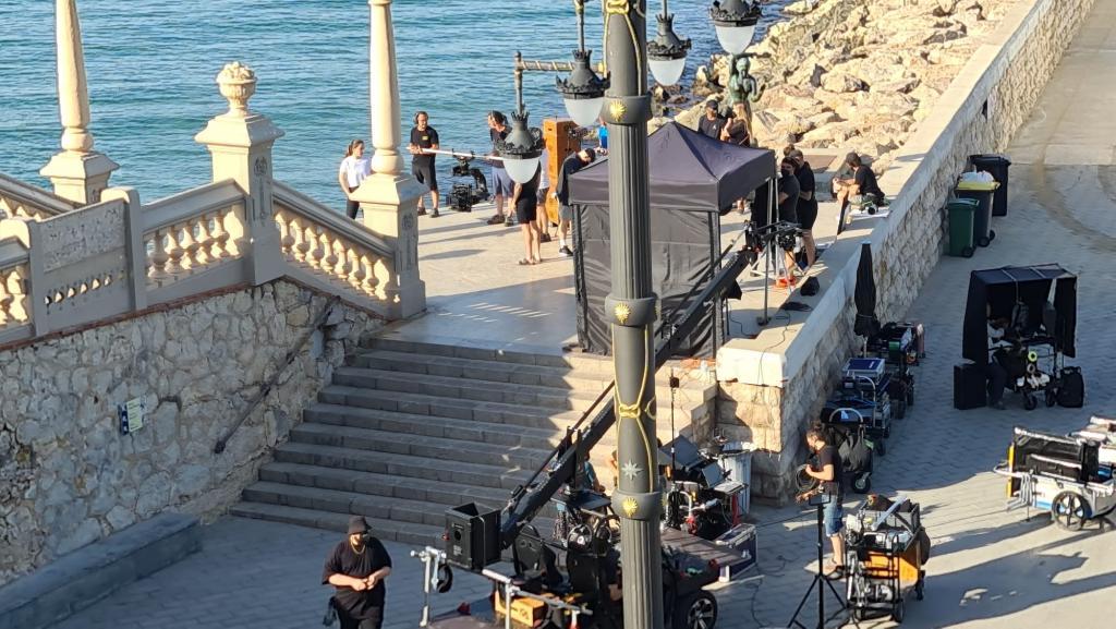 Nike commercial being filmed in Sitges.