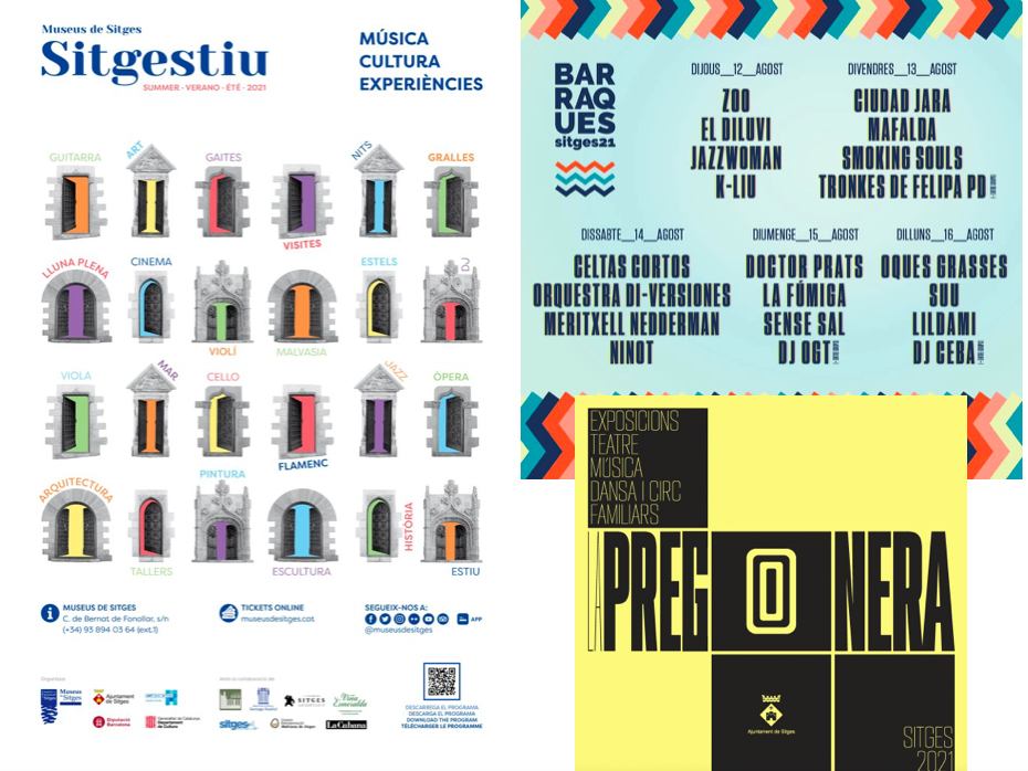 Recent posters for events in Sitges.