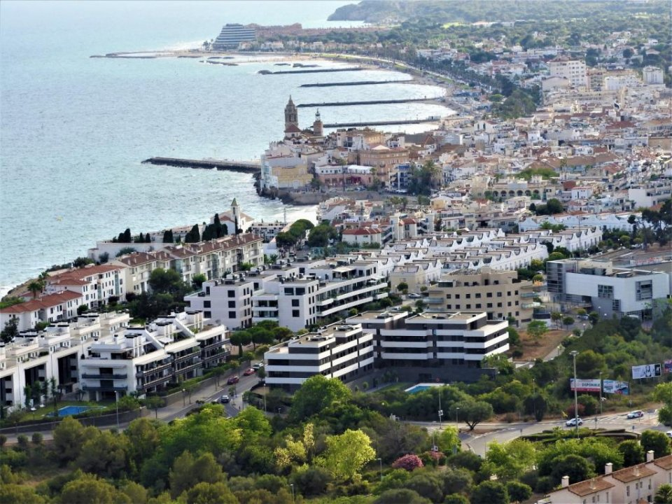 Panoramic image of Sitges.