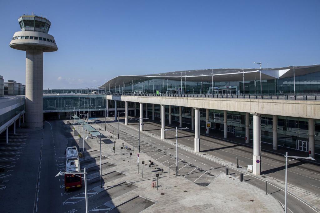 Terminal 1 at Josep Tarradellas Barcelona-El Prat airport.