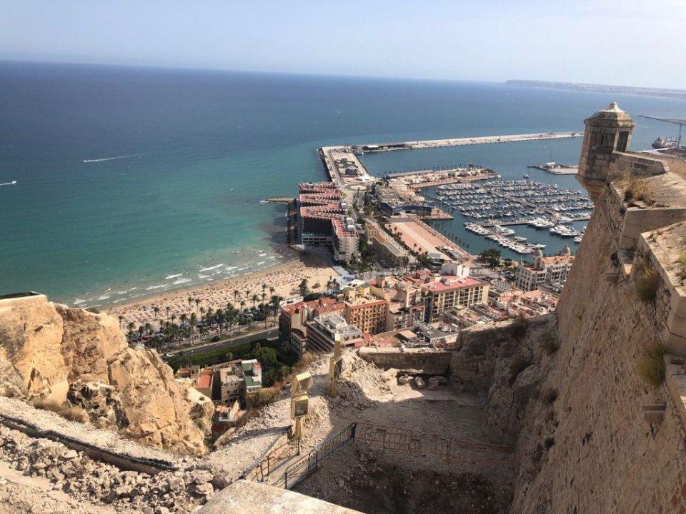 View from the Castle of Santa Bárbara / Monte Benacantil, Alicante.
