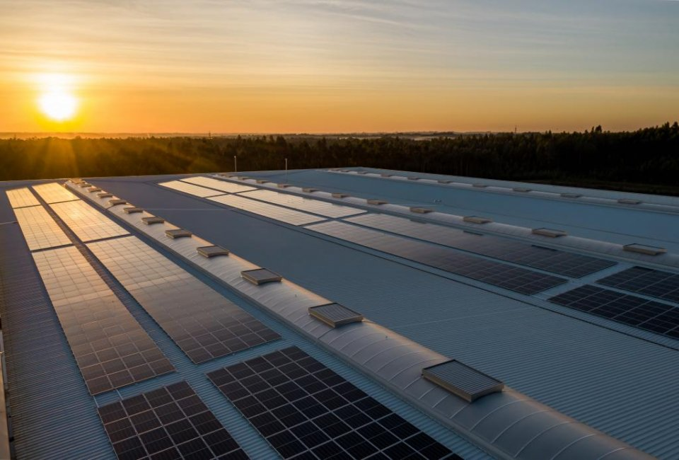 Library image of solar panels.