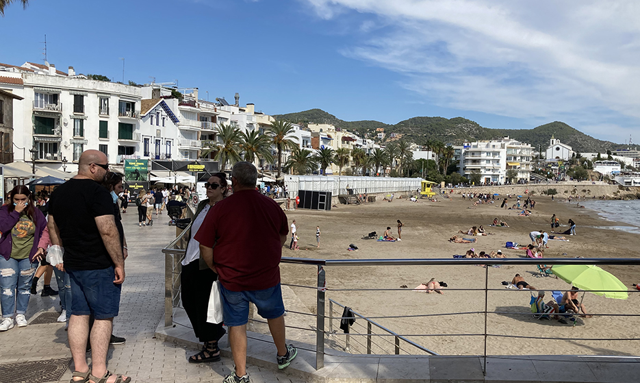 The Sant Sebastian beach in Sitges